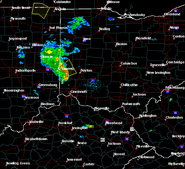 Radar Image for Severe Thunderstorms near Eldorado, OH at 6/9/2020 7:56 PM EDT