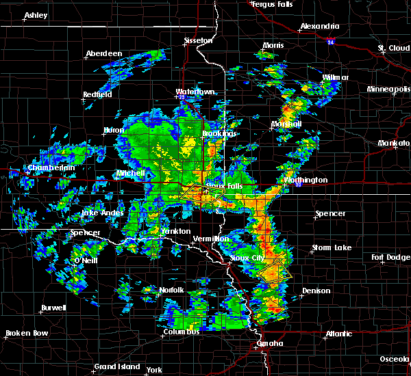 Radar Image for Severe Thunderstorms near Sioux Falls, SD at 6/9/2020 6:56 PM CDT