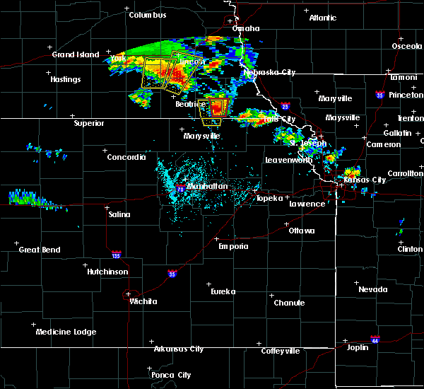 Radar Image for Severe Thunderstorms near Pawnee City, NE at 6/9/2020 7:13 PM CDT