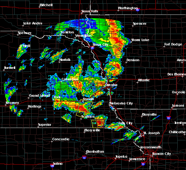 Radar Image for Severe Thunderstorms near Pawnee City, NE at 6/9/2020 7:23 PM CDT