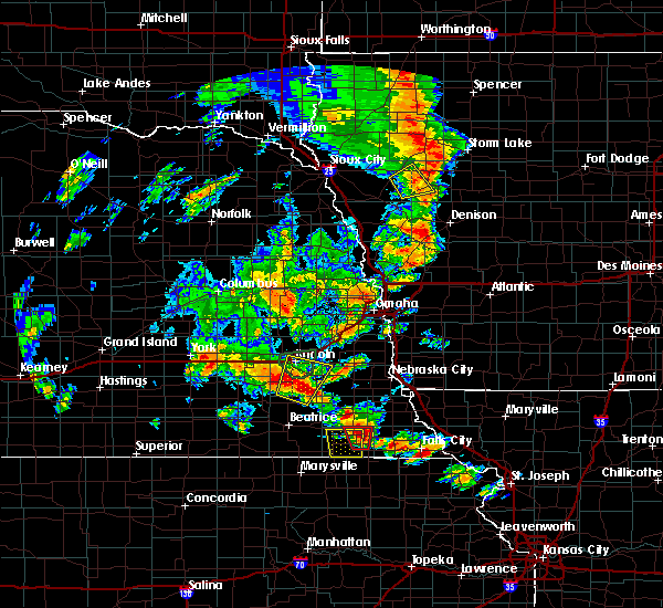 Radar Image for Severe Thunderstorms near Woodland Hills, NE at 6/9/2020 7:31 PM CDT