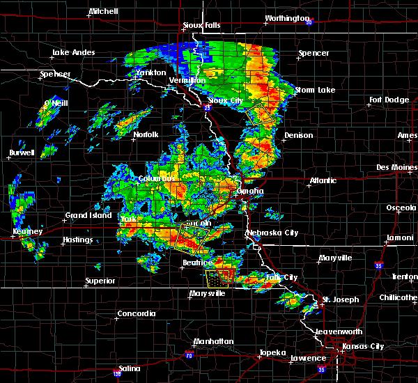Radar Image for Severe Thunderstorms near Stella, NE at 6/9/2020 7:34 PM CDT