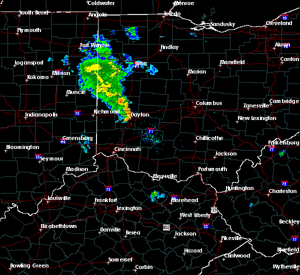Radar Image for Severe Thunderstorms near Piqua, OH at 6/9/2020 8:34 PM EDT