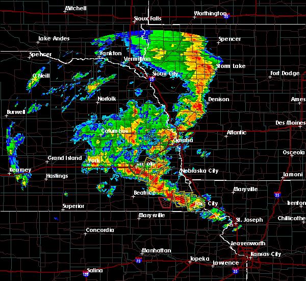 Radar Image for Severe Thunderstorms near Brock, NE at 6/9/2020 7:37 PM CDT