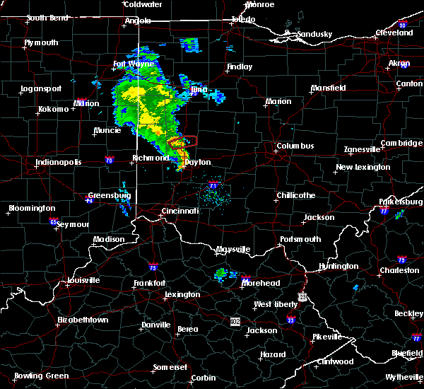 Radar Image for Severe Thunderstorms near Piqua, OH at 6/9/2020 8:39 PM EDT