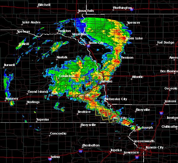 Radar Image for Severe Thunderstorms near Brock, NE at 6/9/2020 7:54 PM CDT