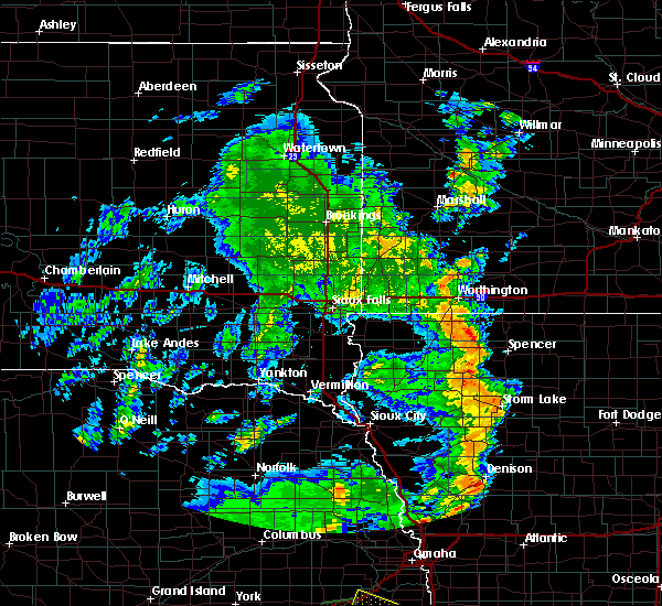 Radar Image for Severe Thunderstorms near Spencer, IA at 6/9/2020 7:55 PM CDT