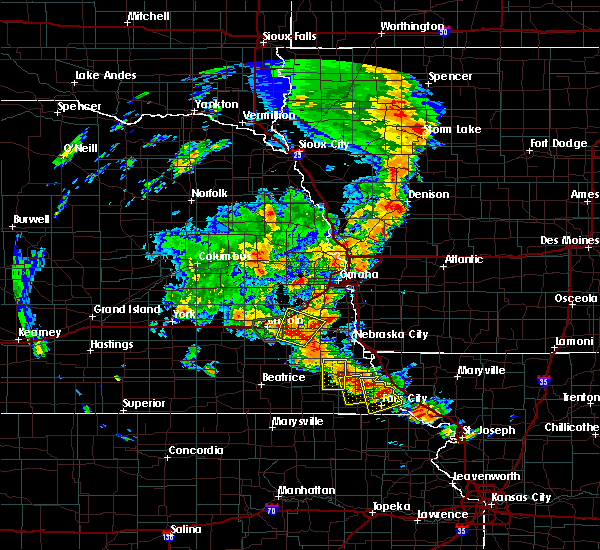 Radar Image for Severe Thunderstorms near Woodland Hills, NE at 6/9/2020 7:55 PM CDT