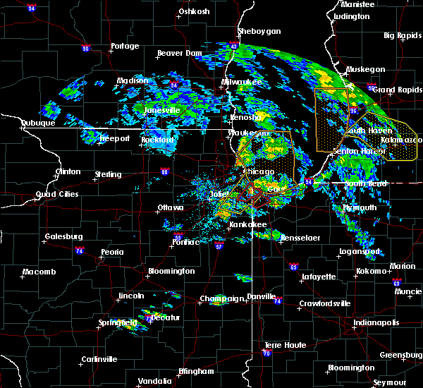 Radar Image for Severe Thunderstorms near Burnham, IL at 6/9/2020 8:00 PM CDT