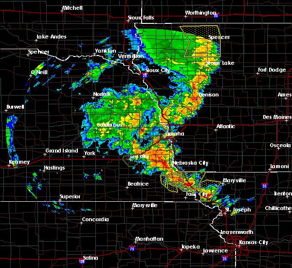 Radar Image for Severe Thunderstorms near Brock, NE at 6/9/2020 8:10 PM CDT