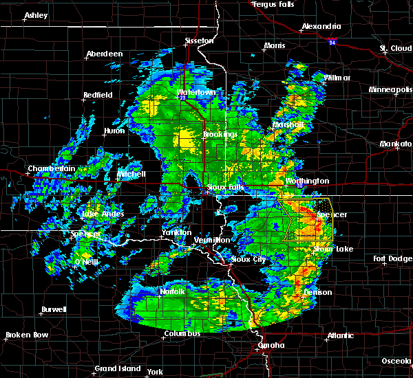 Radar Image for Severe Thunderstorms near Spencer, IA at 6/9/2020 8:15 PM CDT
