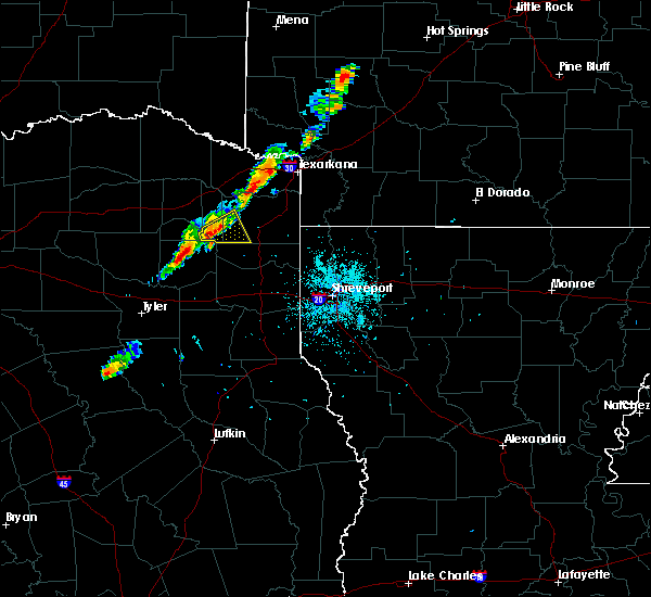 Radar Image for Severe Thunderstorms near Daingerfield, TX at 6/9/2020 8:27 PM CDT