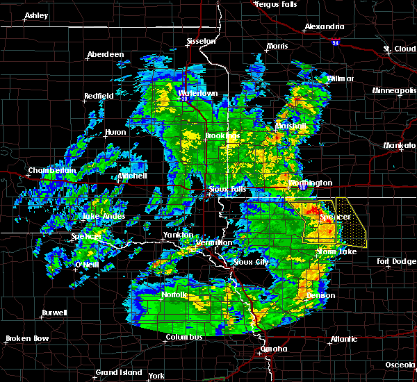 Radar Image for Severe Thunderstorms near Spencer, IA at 6/9/2020 8:28 PM CDT