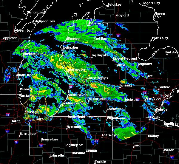Radar Image for Severe Thunderstorms near Freeport, MI at 6/9/2020 9:34 PM EDT