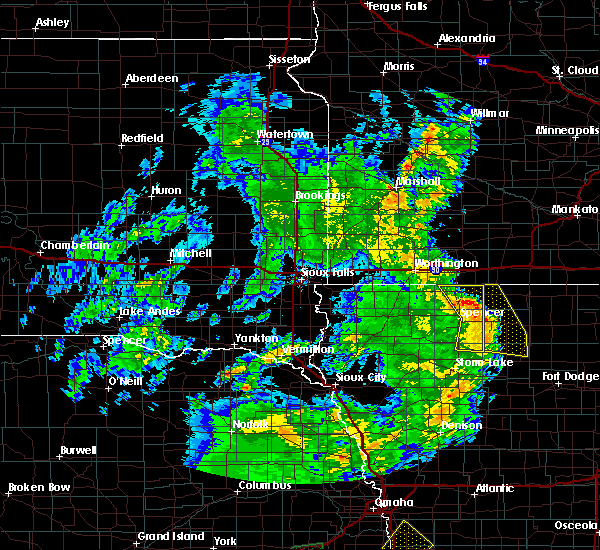 Radar Image for Severe Thunderstorms near Spencer, IA at 6/9/2020 8:43 PM CDT