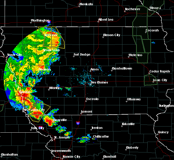 Radar Image for Severe Thunderstorms near Rodman, IA at 6/9/2020 8:51 PM CDT
