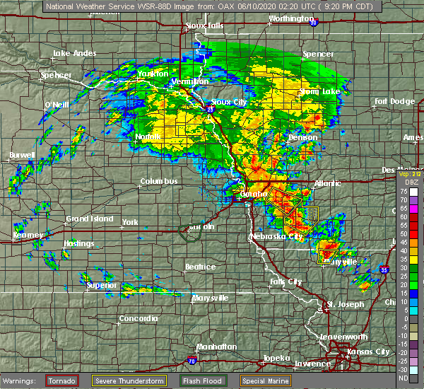 Radar Image for Severe Thunderstorms near Griswold, IA at 6/9/2020 9:26 PM CDT