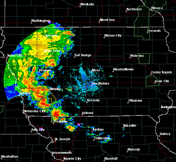 Radar Image for Severe Thunderstorms near Bedford, IA at 6/9/2020 9:33 PM CDT