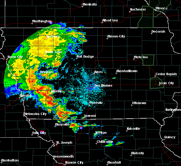Radar Image for Severe Thunderstorms near Bedford, IA at 6/9/2020 9:53 PM CDT