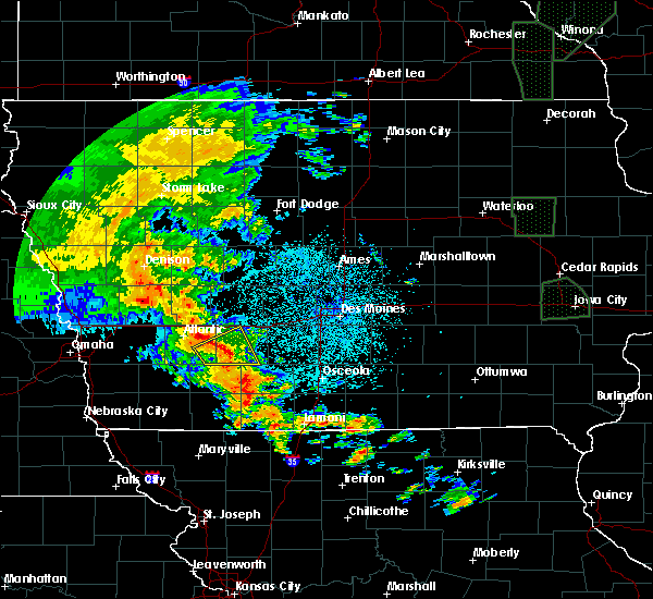 Radar Image for Severe Thunderstorms near Greenfield, IA at 6/9/2020 10:22 PM CDT