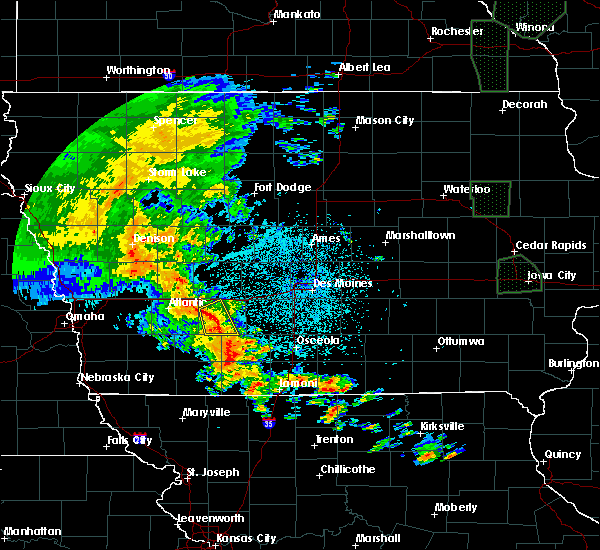 Radar Image for Severe Thunderstorms near Fontanelle, IA at 6/9/2020 10:24 PM CDT