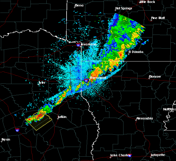Radar Image for Severe Thunderstorms near Kennard, TX at 6/9/2020 11:13 PM CDT