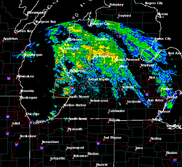 Radar Image for Severe Thunderstorms near Beechwood, MI at 6/10/2020 12:20 AM EDT