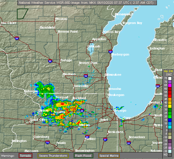 Radar Image for Severe Thunderstorms near Adeline, IL at 6/10/2020 2:40 AM CDT