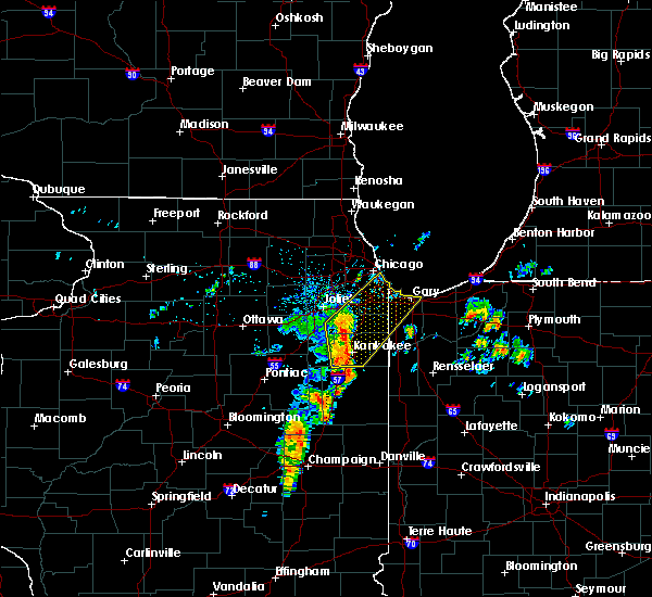 Radar Image for Severe Thunderstorms near Chicago Heights, IL at 6/10/2020 8:17 AM CDT