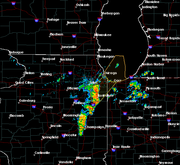Radar Image for Severe Thunderstorms near Chicago Heights, IL at 6/10/2020 8:27 AM CDT