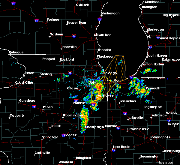 Radar Image for Severe Thunderstorms near Chicago Heights, IL at 6/10/2020 8:34 AM CDT