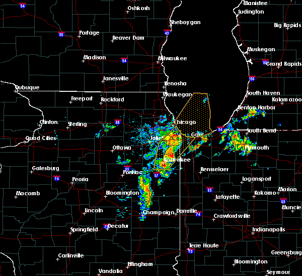 Radar Image for Severe Thunderstorms near Oak Forest, IL at 6/10/2020 8:53 AM CDT