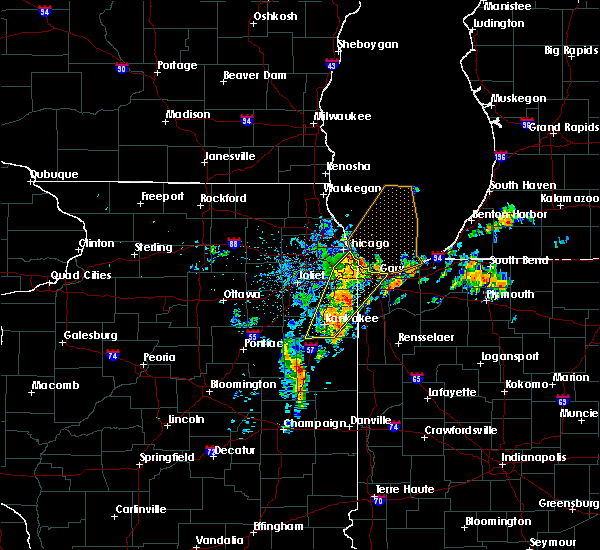 Radar Image for Severe Thunderstorms near Chicago Heights, IL at 6/10/2020 8:56 AM CDT