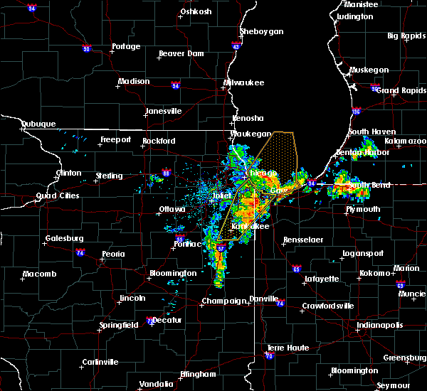 Radar Image for Severe Thunderstorms near Chicago Heights, IL at 6/10/2020 9:07 AM CDT