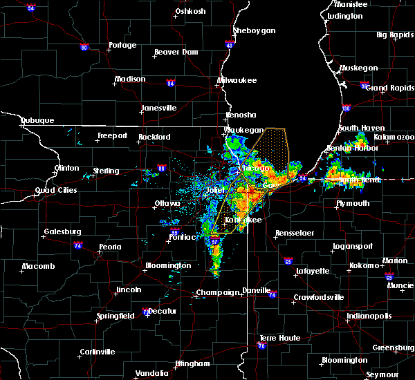 Radar Image for Severe Thunderstorms near Chicago Heights, IL at 6/10/2020 9:13 AM CDT