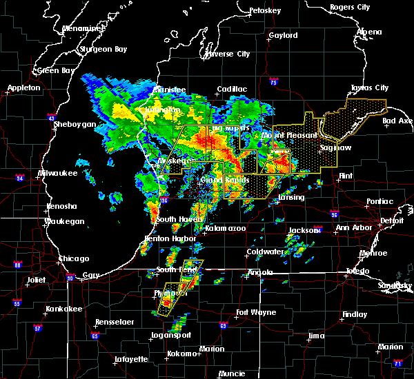 Radar Image for Severe Thunderstorms near Canadian Lakes, MI at 6/10/2020 12:53 PM EDT