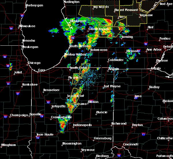 Radar Image for Severe Thunderstorms near Goshen, IN at 6/10/2020 12:59 PM EDT