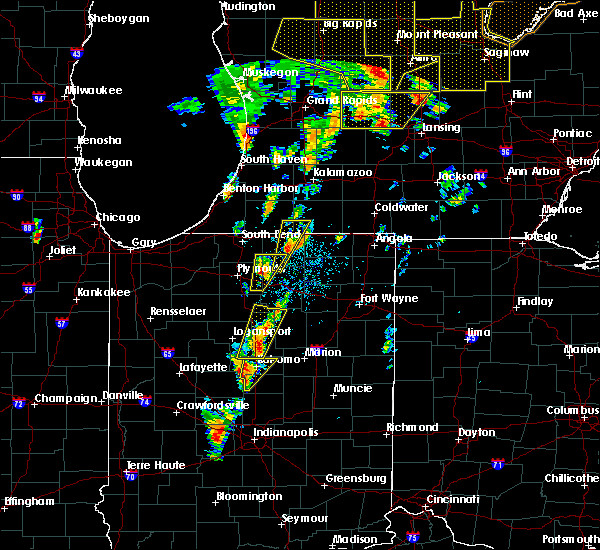 Radar Image for Severe Thunderstorms near Nappanee, IN at 6/10/2020 1:01 PM EDT