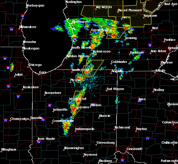 Radar Image for Severe Thunderstorms near Onward, IN at 6/10/2020 1:06 PM EDT