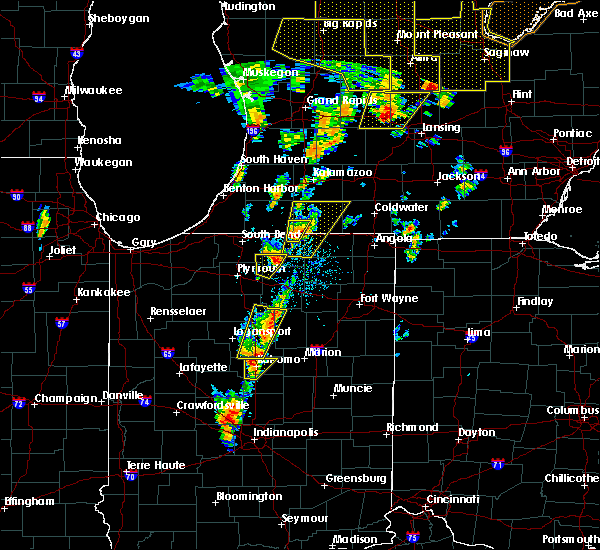 Radar Image for Severe Thunderstorms near Goshen, IN at 6/10/2020 1:11 PM EDT