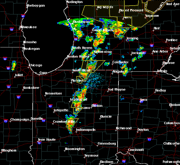 Radar Image for Severe Thunderstorms near Syracuse, IN at 6/10/2020 1:17 PM EDT