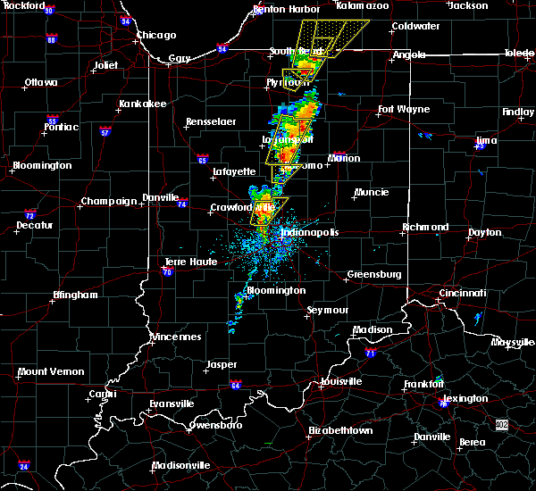 Radar Image for Severe Thunderstorms near Indianapolis, IN at 6/10/2020 1:20 PM EDT