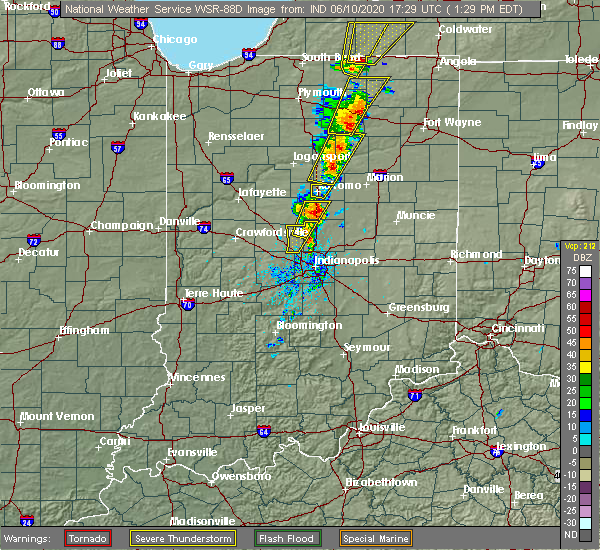 Radar Image for Severe Thunderstorms near Indian Heights, IN at 6/10/2020 1:37 PM EDT