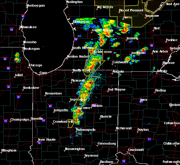 Radar Image for Severe Thunderstorms near Syracuse, IN at 6/10/2020 1:39 PM EDT