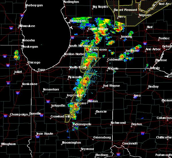 Radar Image for Severe Thunderstorms near Centreville, MI at 6/10/2020 1:43 PM EDT