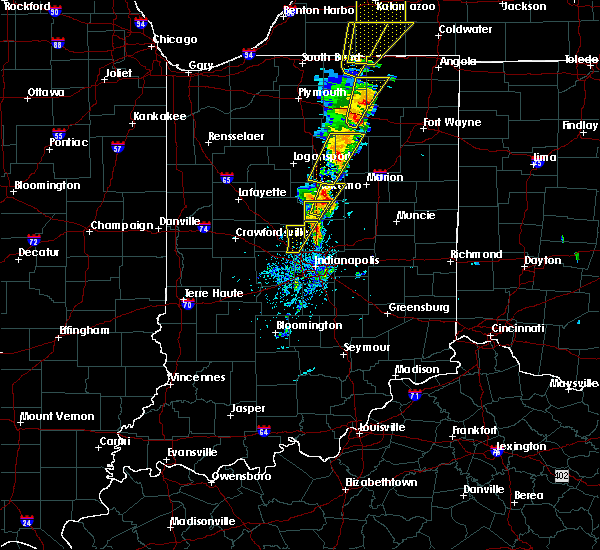 Radar Image for Severe Thunderstorms near Indianapolis, IN at 6/10/2020 1:43 PM EDT