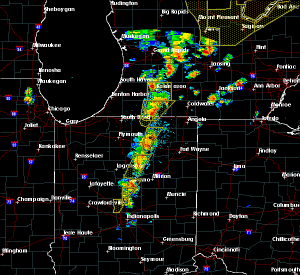 Radar Image for Severe Thunderstorms near Albion, IN at 6/10/2020 1:44 PM EDT