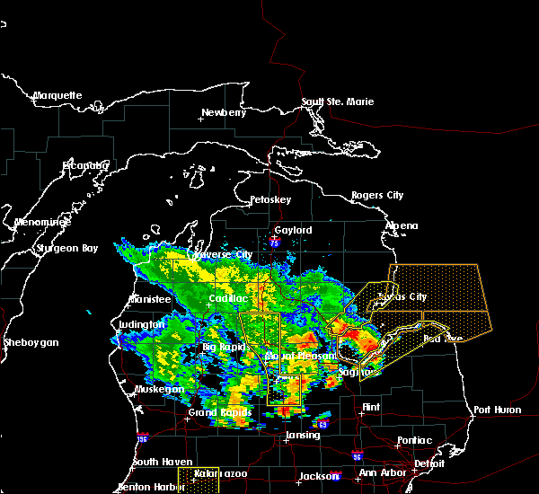 Radar Image for Severe Thunderstorms near Au Sable, MI at 6/10/2020 1:47 PM EDT