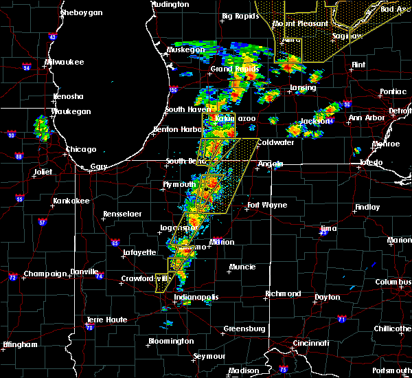 Radar Image for Severe Thunderstorms near Point Isabel, IN at 6/10/2020 1:50 PM EDT