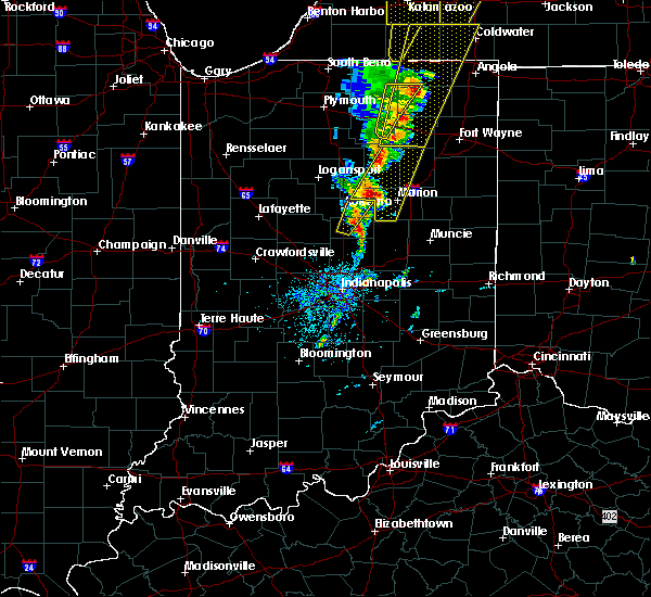 Radar Image for Severe Thunderstorms near Elwood, IN at 6/10/2020 1:56 PM EDT
